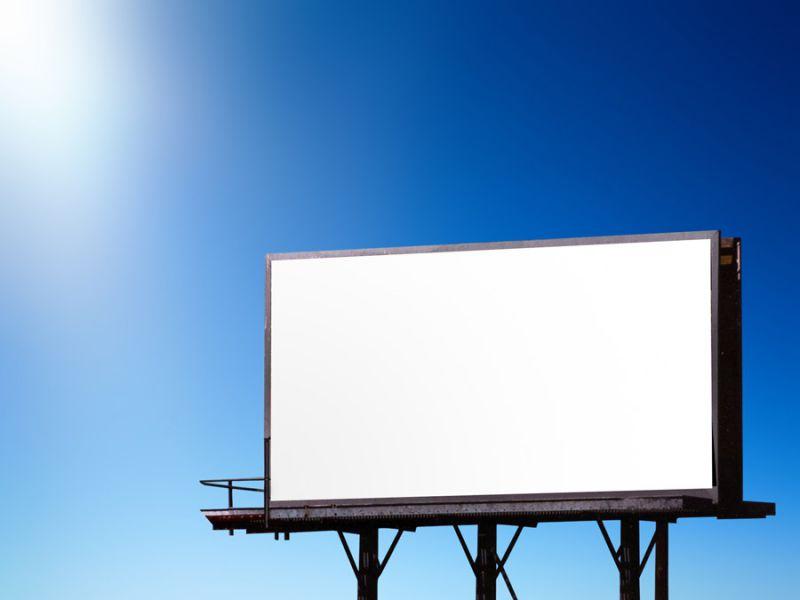Un panneau publicitaire